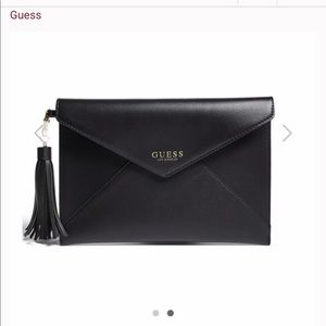 NWT Guess Black Clutch w/Charger Tassel  🔥